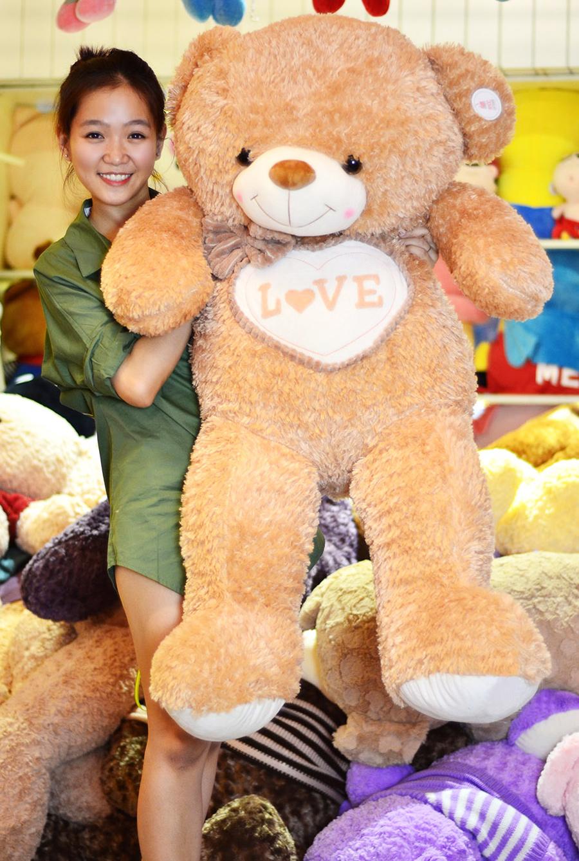 Gấu Teddy Camel Đeo Nơ Ngực Tim
