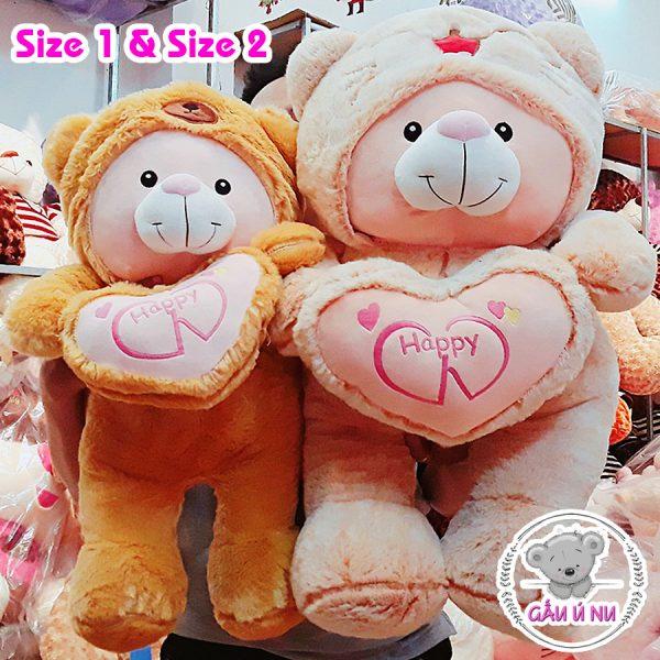 Size 1 và Size 2 Gấu Cosplay