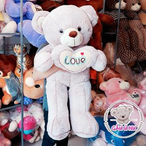 Gấu bông Teddy 110 cm Ôm Tim Love